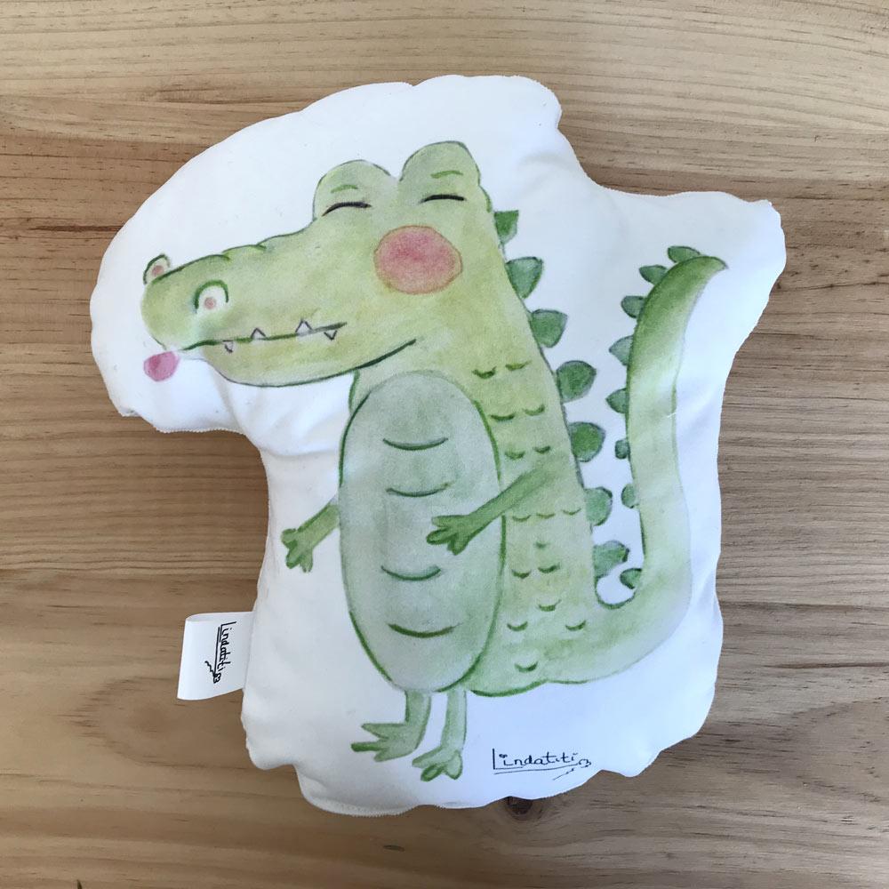 Cojín cocodrilo Álex