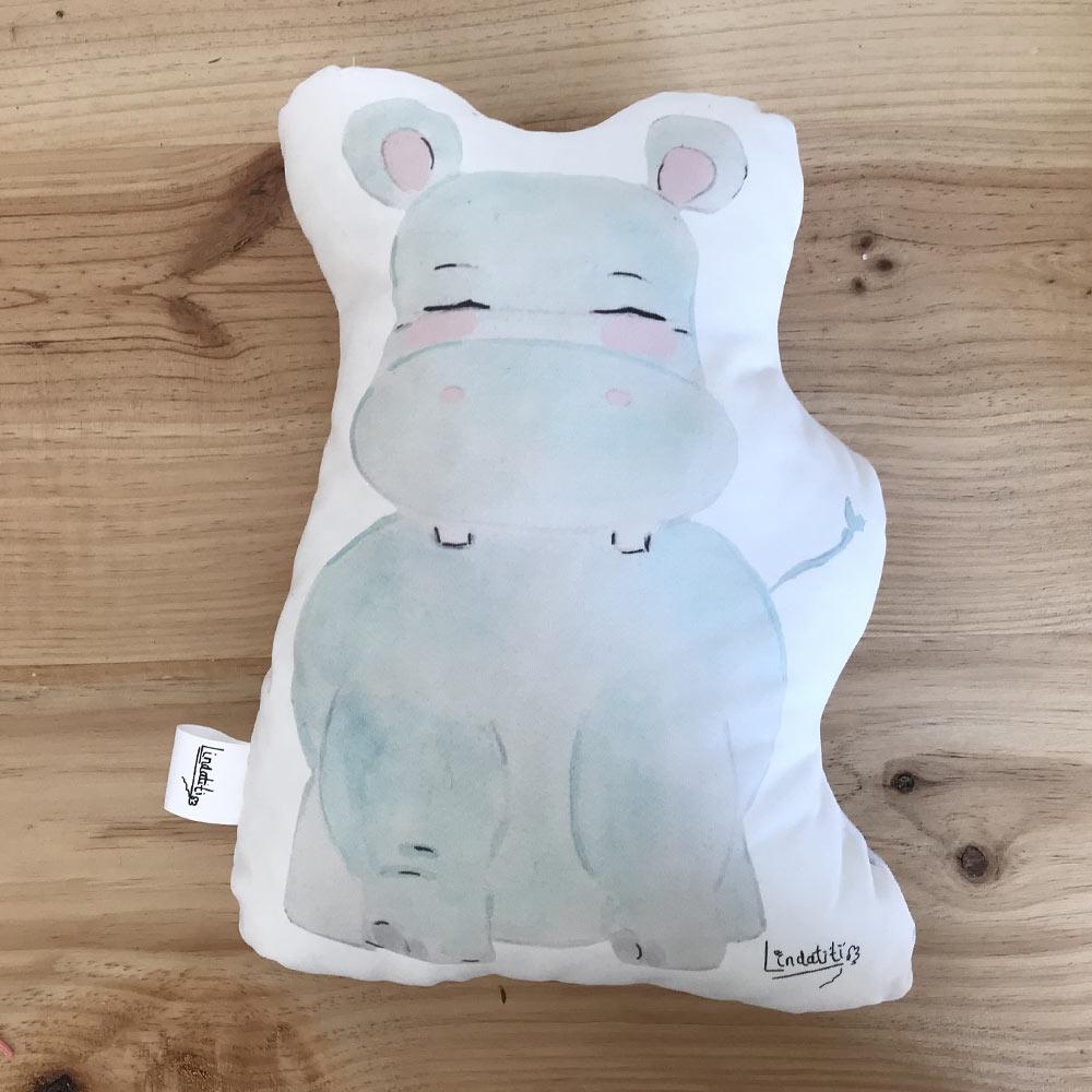 Cojín hipopótamo Toño