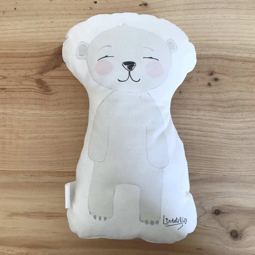 Cojín oso polar César