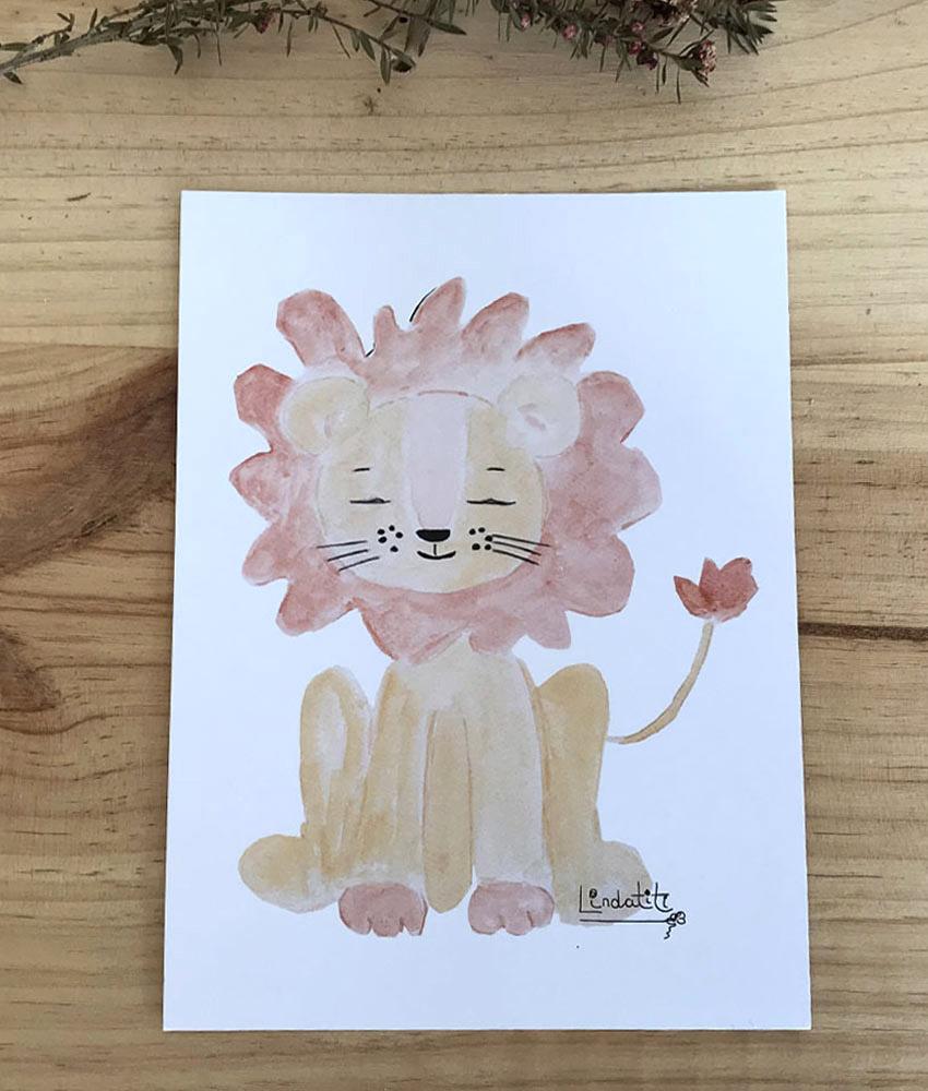 Lámina león Tito