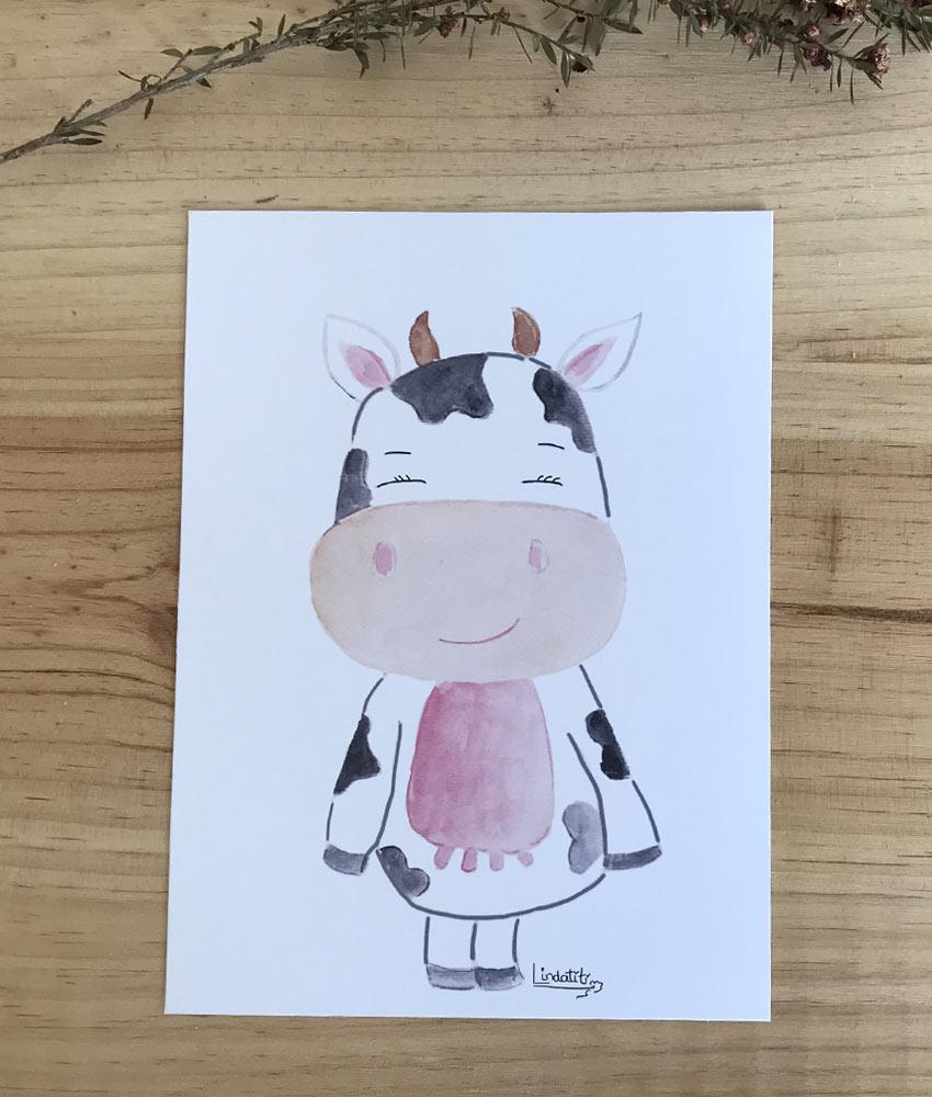 Lámina vaca María