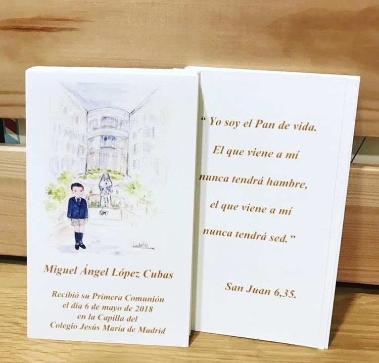 Recordatorios de Comunión personalizados con oración