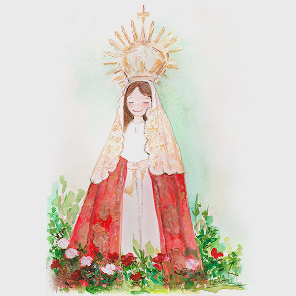 Cuadro Virgen del Carbayo Langreo en Asturias