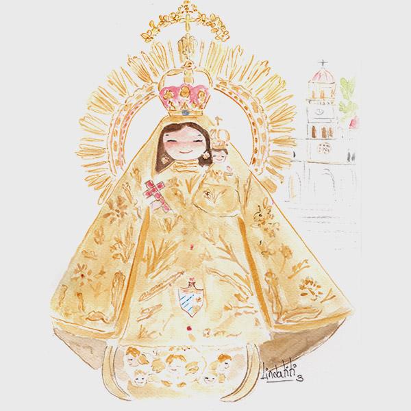 Lámina Virgen de la Caridad del Cobre de Cuba