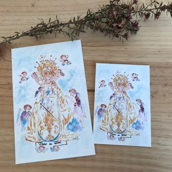 lamina Virgen de Gador Berja Almería