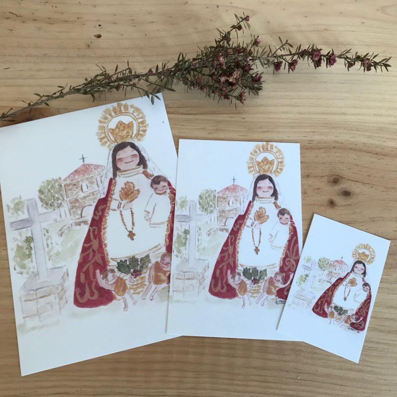 Lamina Virgen del Acebo Cangas del Narcea Asturias
