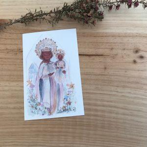 lamina de Virgen de la Moreneta Mallorca