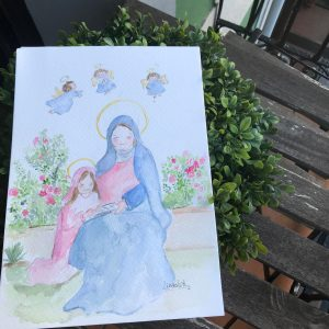 Lamina Virgen de Santa Ana