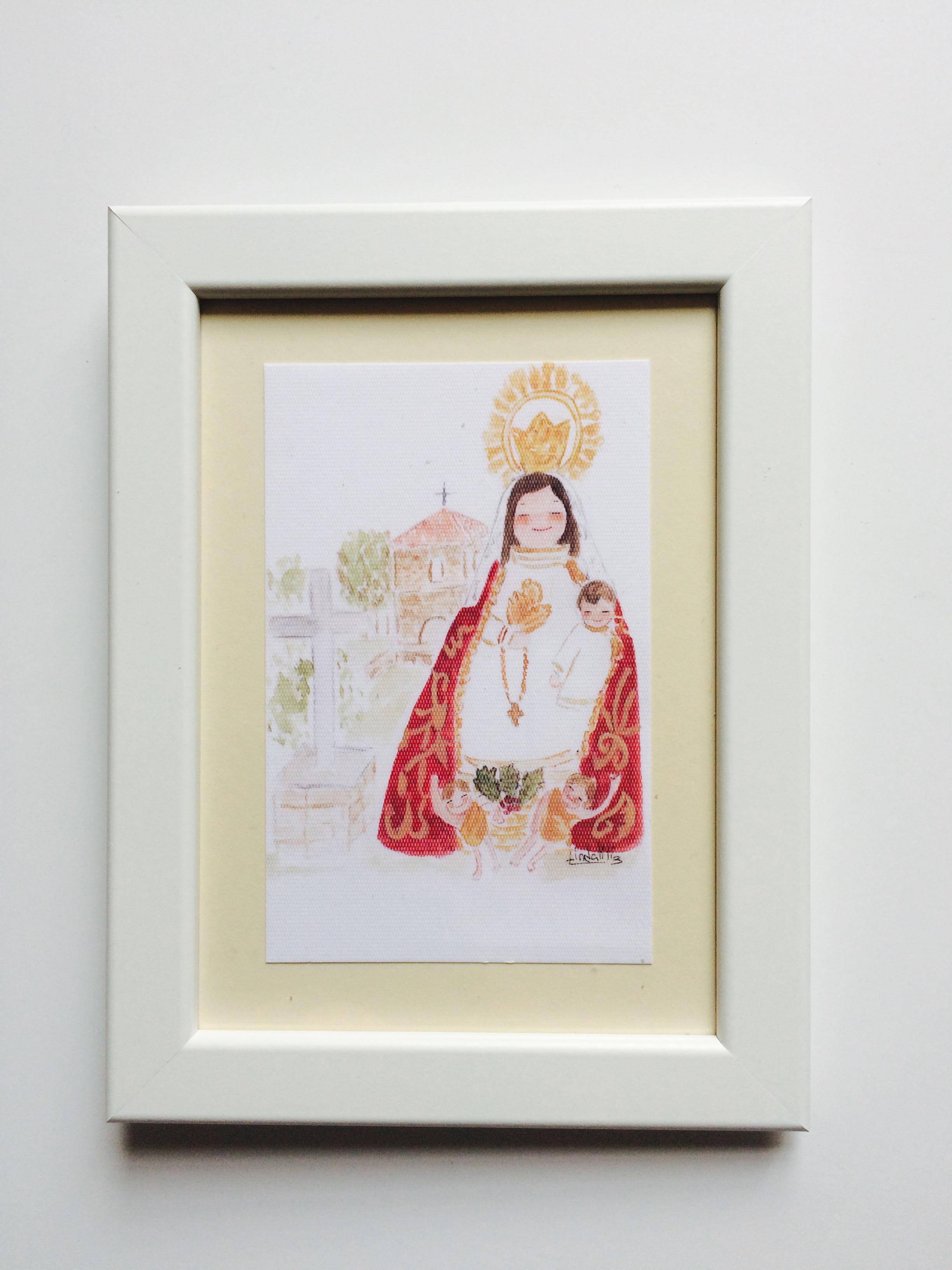 Cuadro Virgen del Acebo Cangas del Narcea